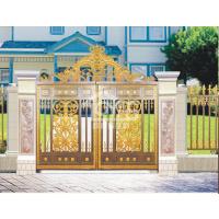 欧雅斯高端铸铝庭院门入户门中式欧式电动铝合金平开对开平移折叠庭院门铝艺大门围栏凉亭车棚雨棚