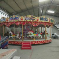 厂家直销大型室内儿童游乐设备16座豪华旋转木马