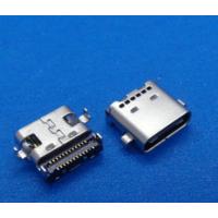 usb 3.1 type-c母座 24P沉板0.8双排贴片 四脚贴片 usb接口防水连接器