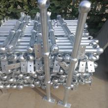 深圳工厂热镀锌钢格栅扶手 河源空心球接栏杆厂家 三球立柱