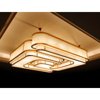 专业定制灯具 会议室大厅中式云石LED灯定制