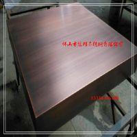 广东不锈钢镀铜厂家 仿铜门材料供应 手工拉丝发黑镀铜板加工