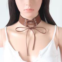 创意款速卖通 爆款饰品 宽绒带系带颈链项圈 个性朋克绑带项链