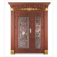 天津塘沽区铸铝门,铝艺庭院大门安装