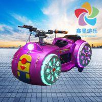 儿童炫酷太子摩托车 广场彩灯玩具遥控车 亲子炫酷发光玩具车