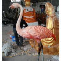 仿真红鹤 仿真动物 玻璃钢材质动物雕像 创意工艺品