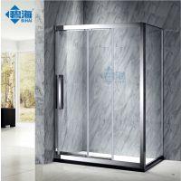 厂家直销新款304不锈钢安全淋浴房 钻石形平开式屏风 家居不锈钢弧扇形淋浴房