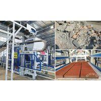 透水砖生产线设备二次利用建筑垃圾制砖让环保和省钱省力兼得