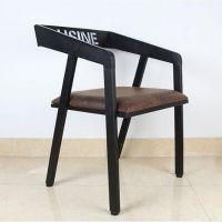 深圳订做餐厅桌椅子,特色铁木结合餐椅,田园舒适软装椅子定制