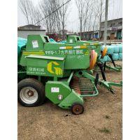 玉米秸秆青储打包机 买青贮圆捆机就民耀打捆包膜机厂家