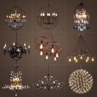 美式复古铁艺水晶吊灯创意地球仪吊灯清吧咖啡厅别墅设计师吊灯具