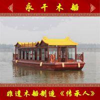出售大型客船优质仿古木质游船旅游观光木船