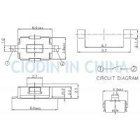SOFNG TS-1107 外形尺寸:3.5mm*6.0mm*2.5mm