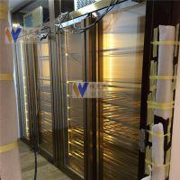 上海酒店家庭专用定制镜面玫瑰金不锈钢恒温酒柜