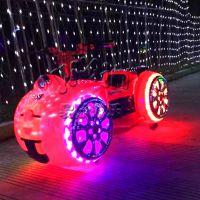 广场太子摩托车 室外儿童户外玩具游乐设备 公园摆摊生意小型新款电动车