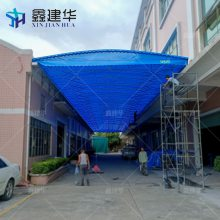 杭州拱墅区推拉手动式防风雨蓬 车雨棚定做 雨棚布那里有卖