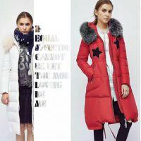 品牌女装瑞琳珈娜16冬款羽绒服现货折扣尾单一手货源批发走份