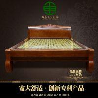 供应双东玉玉石床垫DY1200韩式现代双人床双温双控实木雕花床冬暖夏凉远红外线负离子超长波保健加热床