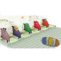 福建龙岩宁德市幼儿园彩色隔断大象隔板兔子屏风蹲便器大便器小便斗挡板 方形粉色小隔板