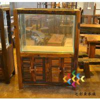 泉州功夫茶桌厂家 超赞爱玛仕老船木家具办公茶桌 客厅茶几尺寸 茶台餐桌批发图片铁观音茶盘