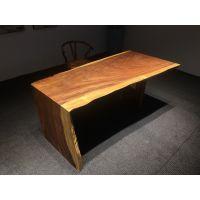 南美胡桃木实木大板简约现代新中式北欧风原木茶桌办公桌餐桌整块实木工作台茶几茶台写字台老板桌案批发现货