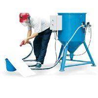 供应汕头威腾大型除锈移动式喷砂机 油罐翻新开放式喷砂机