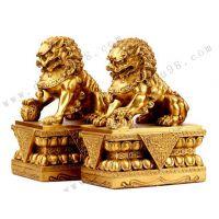 大型铜狮子雕塑_汇丰狮雕塑定制-志彪铜雕厂家