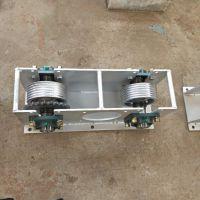 全自动刮粪机设备 养猪自动控制设备 一拖二V型不锈钢刮粪机