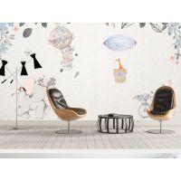 欧式手绘风格田园风电视沙发背景墙 深圳宜品壁画生产加工商 厂家直销