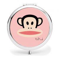 圆形hello kitty化妆镜简易滴胶镜子 化妆镜定制