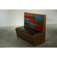 东莞火锅店卡座沙发订制,美式工业复古主题餐厅卡座沙发实拍图