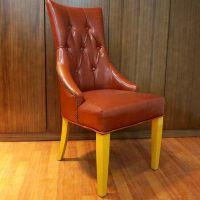 海德利北欧咖啡厅茶室酒吧餐厅新古典实木餐椅布艺休闲软包椅子