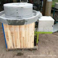 手工打造电动面粉石磨 电动石磨面粉机   高粱磨面专用电动石磨厂