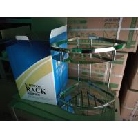卫浴置物架卫生间304不锈钢三角篮2层加厚壁挂三角架浴室角架挂件