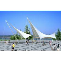 安装人行通道遮阳篷商业走廊膜结构雨棚顶篷PVDF张拉膜小品景观膜