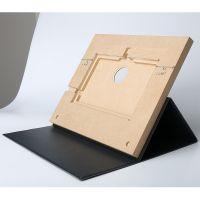 东莞播放器皮套带支撑翻盖式木盒仿皮数码配件工厂OEM来图加工订做