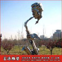 济南不锈钢萨克斯雕塑 欧式风格雕塑工艺品