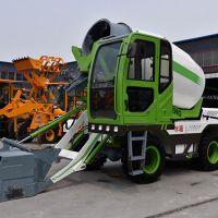 阿拉尔3方轮式可自动上料卸料混凝土搅拌车 可自装自卸的水泥搅拌车