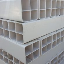 PVC格栅管四孔/九孔/六孔格栅管 通讯格栅式塑料管 四孔/九孔方管