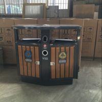 新款户外垃圾桶 环卫垃圾桶果皮箱大号 批发 加厚钢木垃圾箱