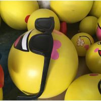 卡通QQ表情公仔摆件 玻璃钢雕塑装饰 水果造型摆放