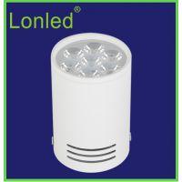lonled 5W LED明装筒灯 7W大功率 超亮射灯LED天花筒灯12W吸顶灯 质保