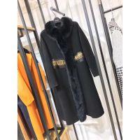 广州服装尾货批发市场欧美羊绒大衣18冬品牌女装折扣批发