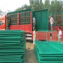 东莞车间隔离护栏网-1.8米高带边框浸塑围挡网规格-一诺塑后4.5mm隔离带报价