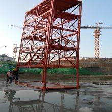 建筑梯笼A箱式梯笼爬梯A组合框架梯笼爬梯通达公司设备