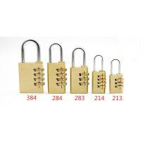 28mm4位全铜密码锁 箱包挂锁小锁数字密码锁更衣柜密码锁