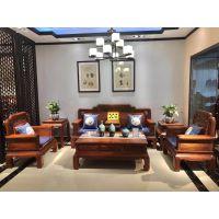 冈比亚刺猬紫檀明尚沙发123六件套价格