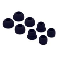 定制加工耳机硅胶套 入耳式硅胶耳塞套 黑白色碗形软耳塞帽