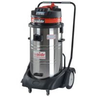 环卫保洁吸灰尘颗粒吸碎屑威德尔220V干湿两用不锈钢工业吸尘器