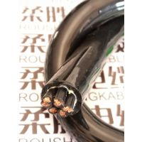 柔胜牌高品质耐低温聚氨酯电缆4芯0.5/0.75/1/1.5平方柔性耐酸碱PUR